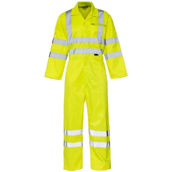Hi Vis Visibility Overall Boiler Suit Coverall Workwear